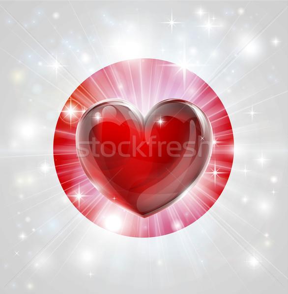 Love Japan flag heart background Stock photo © Krisdog