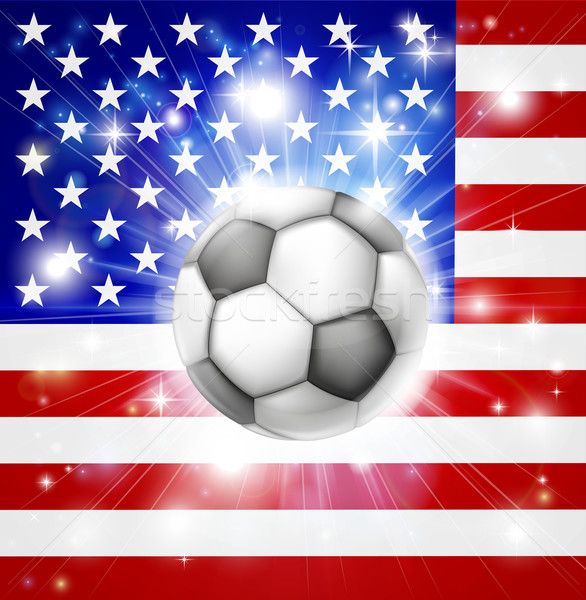 USA soccer flag Stock photo © Krisdog