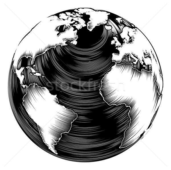 Vintage world globe Stock photo © Krisdog