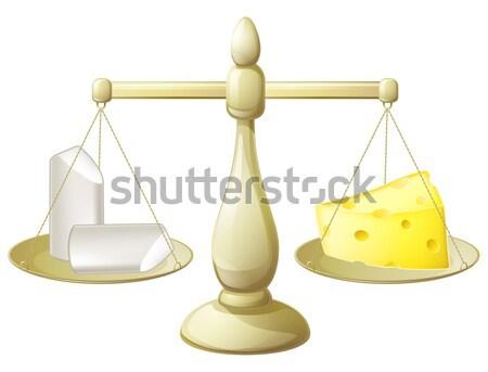 равенство Весы иллюстрация мужчины женщины Сток-фото © Krisdog