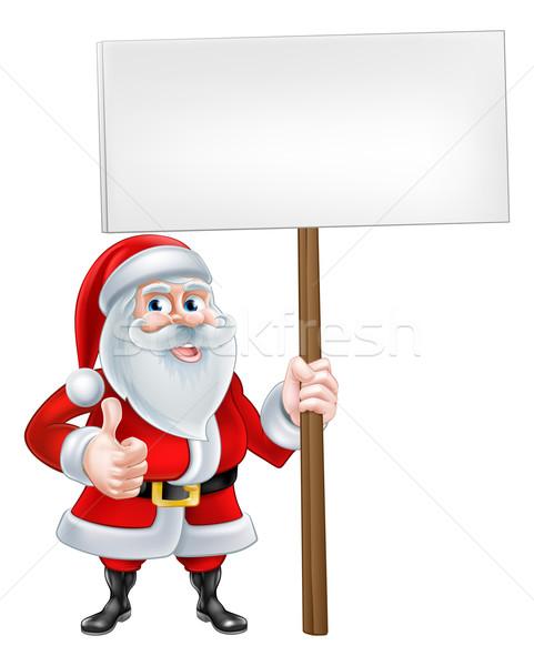 Teken christmas cartoon kerstman Stockfoto © Krisdog