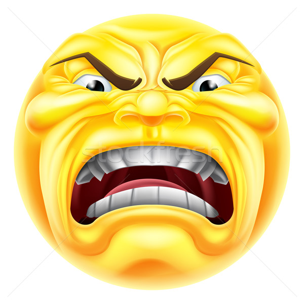 Angry Emoji Emoticon Stock photo © Krisdog