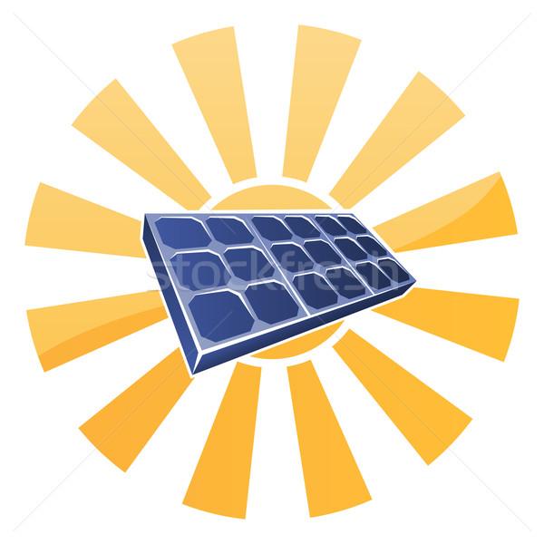 Solar Panel and Sun Concept Stock photo © Krisdog