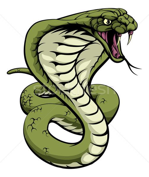 Rei cobra serpente ilustração fora esportes Foto stock © Krisdog