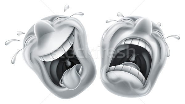 Stock photo: Theater comedy tragedy masks