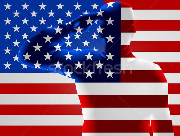 Giorno bandiera americana soldato design americano sfondo Foto d'archivio © Krisdog