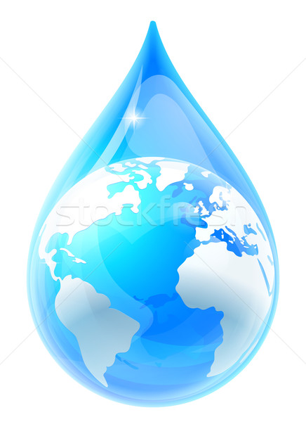 Water Drop Droplet World Earth Globe Stock photo © Krisdog