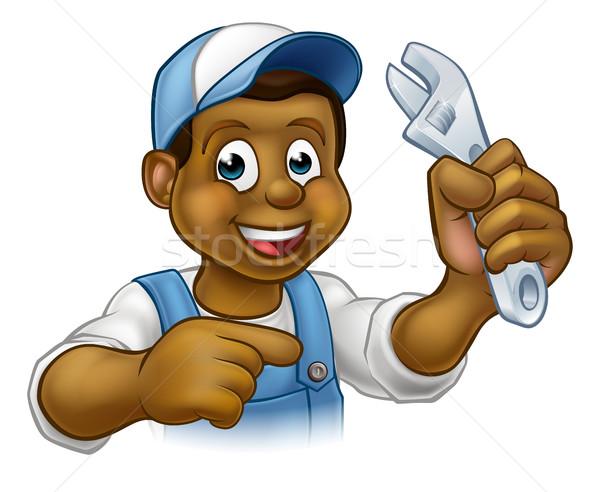 Mechanic or Plumber Handyman Stock photo © Krisdog