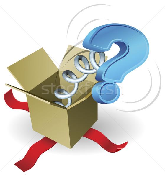 Jack in the box question mark concept Stock photo © Krisdog