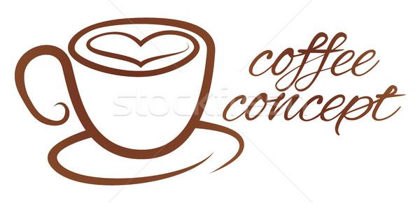 Coffe Cup Heart Love Concept Stock photo © Krisdog