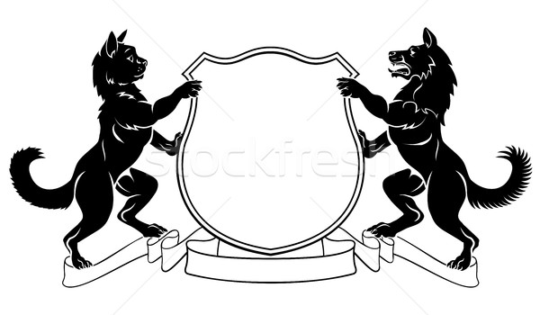 Stock photo: Pets Crest Coat of Arms Heraldic Shield
