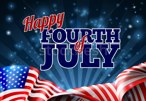 Fourth of July American Flag Background Stock photo © Krisdog