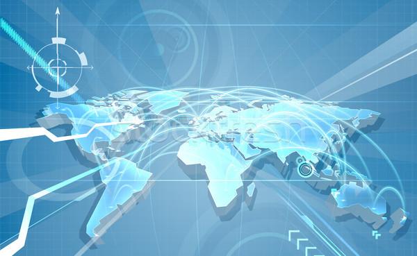 Сток-фото: Мир · торговли · карта · Мир · карта · аннотация · полет