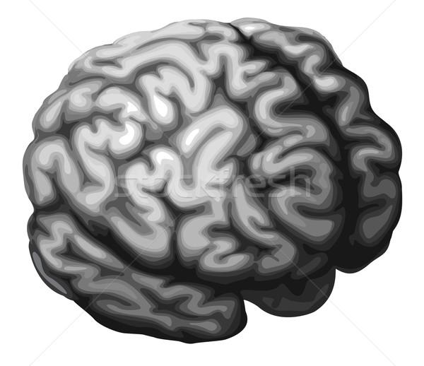 Mózgu ilustracja monochromatyczny projektu muzyka czarny Zdjęcia stock © Krisdog