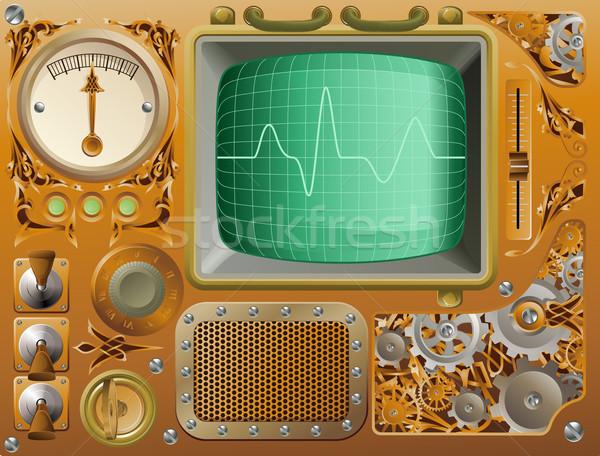 Industriële steampunk media speler stijl grunge Stockfoto © Krisdog