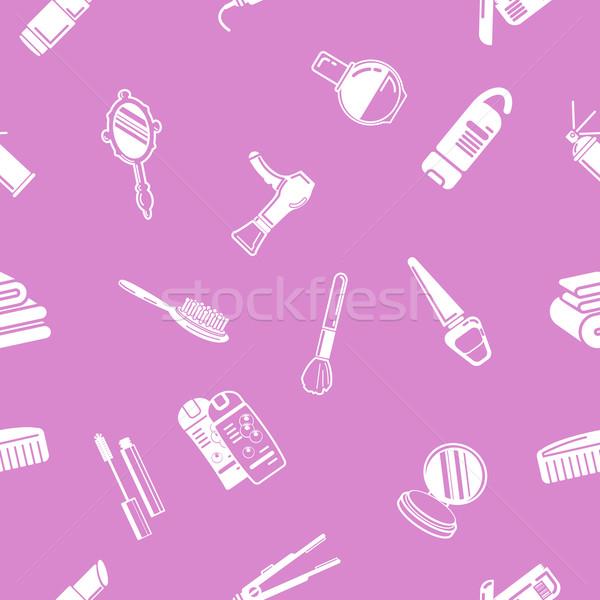 Seamless cosmetics background texture Stock photo © Krisdog