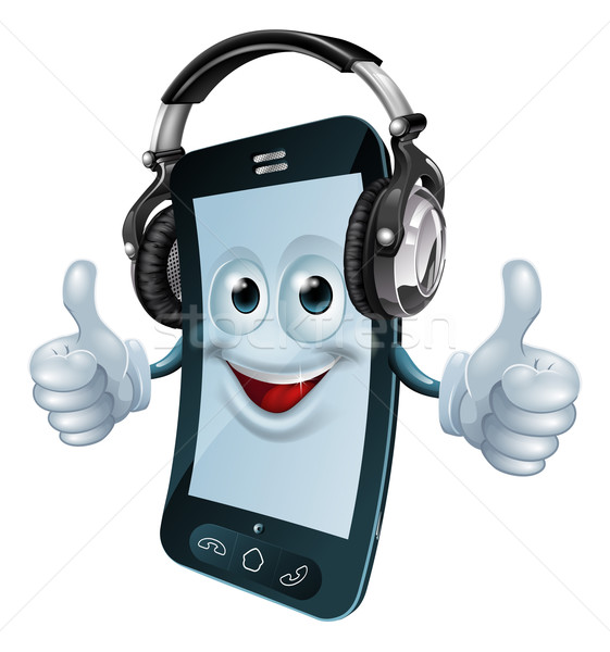 Headphones cell phone Stock photo © Krisdog