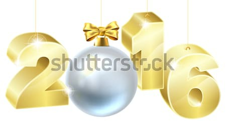 Christmas or new year decorations Stock photo © Krisdog