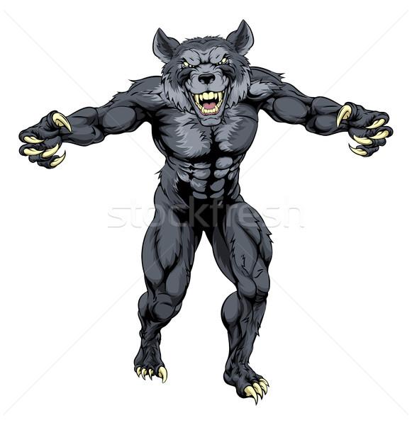 Werewolf mascot Stock photo © Krisdog