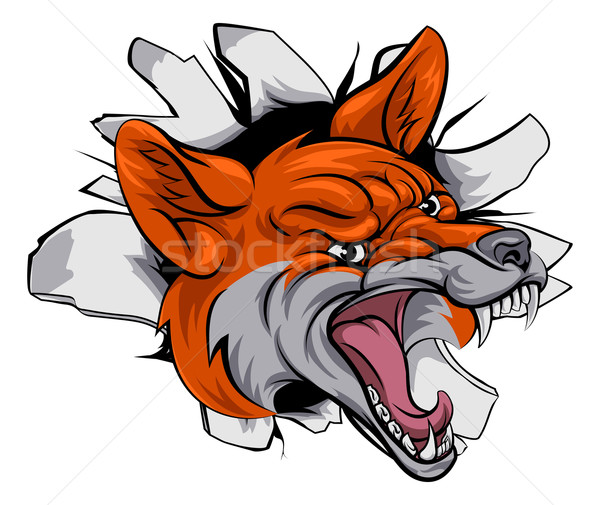 Fox спортивных талисман иллюстрация животного Сток-фото © Krisdog