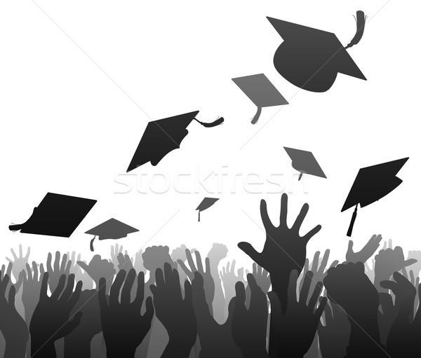 Graduates graduation crowd Stock photo © Krisdog