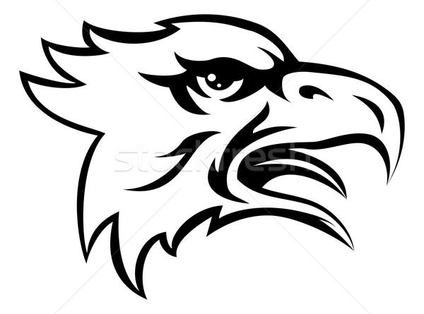 Eagle Mean Animal Mascot Stock photo © Krisdog