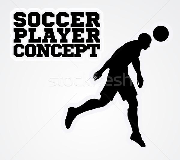 Soccer Football Player Silhouette Concept Stock photo © Krisdog