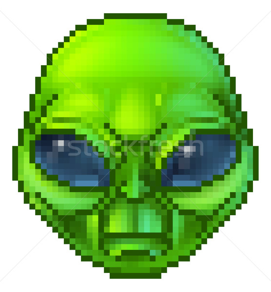 Pixel Art Alien Character Stock photo © Krisdog