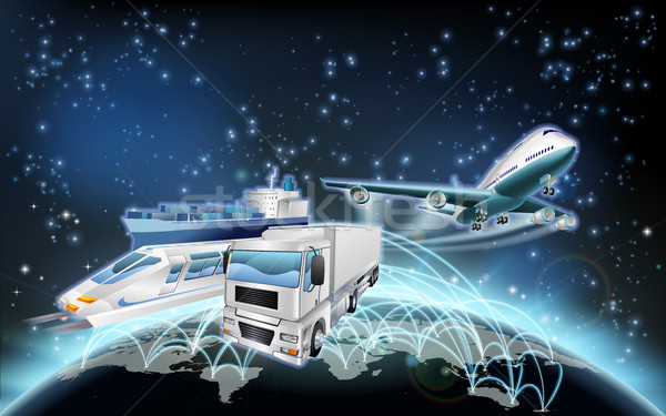 логистика мира Мир полет транспорт плоскости Сток-фото © Krisdog