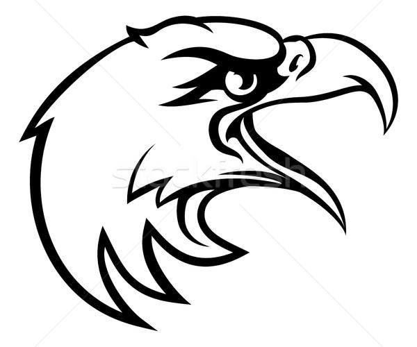 Foto stock: águila · cabeza · lado · aves · carácter · deportes