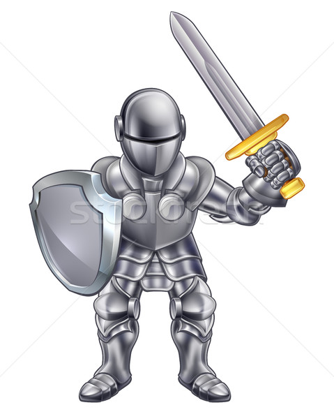 Knight Cartoon Character Stock photo © Krisdog