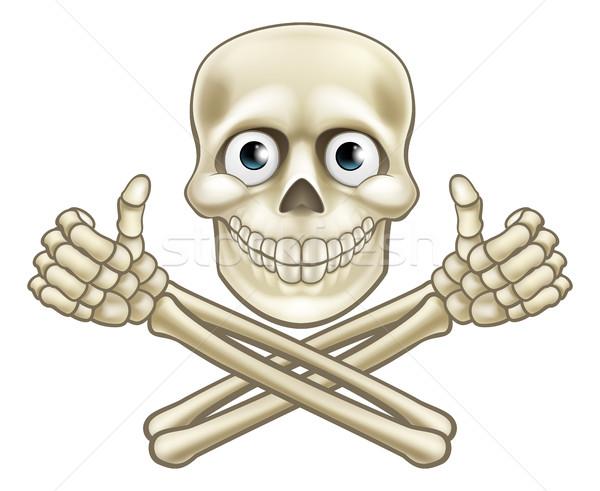 Skull and Crossbones Giving Thumbs Up Stock photo © Krisdog