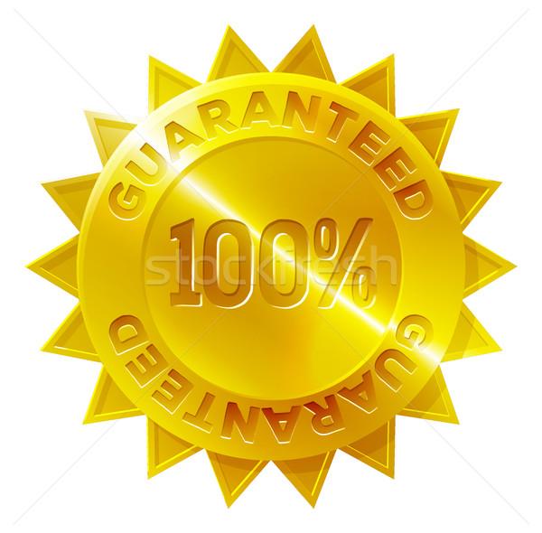 Guaranteed 100 percent Gold Medal Icon Stock photo © Krisdog