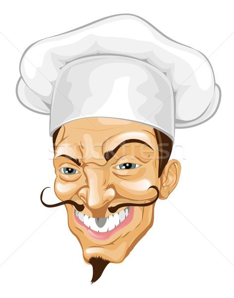 Cartoon chef illustration Stock photo © Krisdog