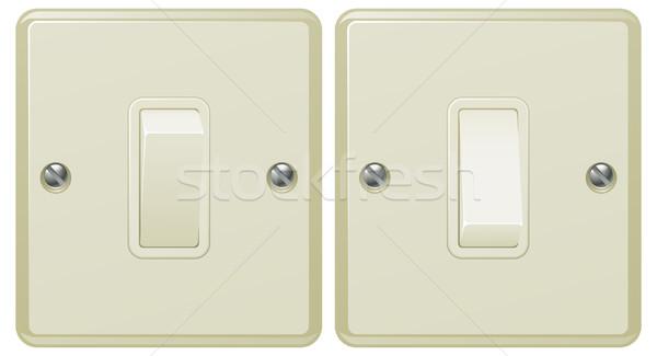 Interrupteur de lumière illustration illustrations positions métal Photo stock © Krisdog