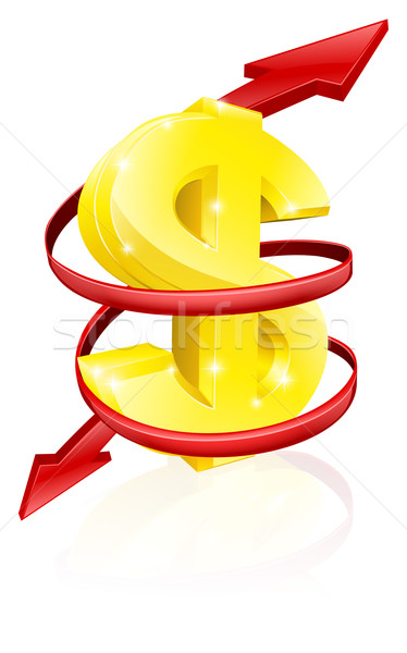 Stock photo: Dollar exchange rate concept