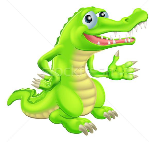 Cartoon Crocodile Illustration Stock photo © Krisdog