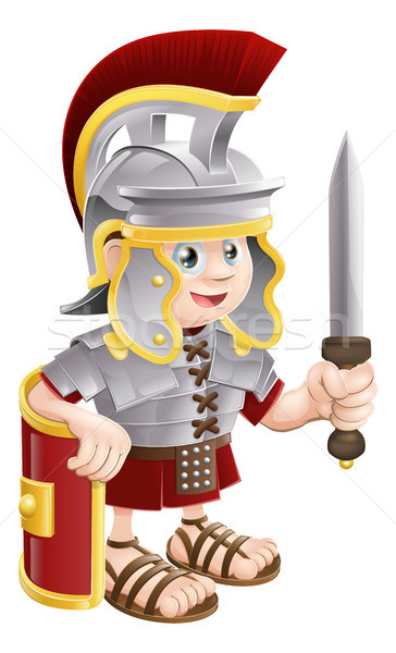 Roman Soldier with Sword Stock photo © Krisdog