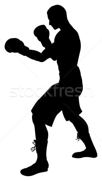 Boxer Silhouette Stock photo © Krisdog