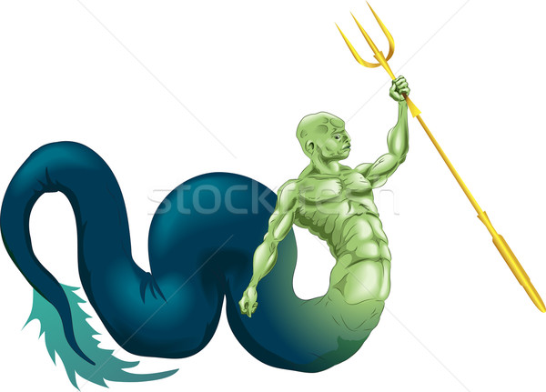 Merman or Poseidon Stock photo © Krisdog