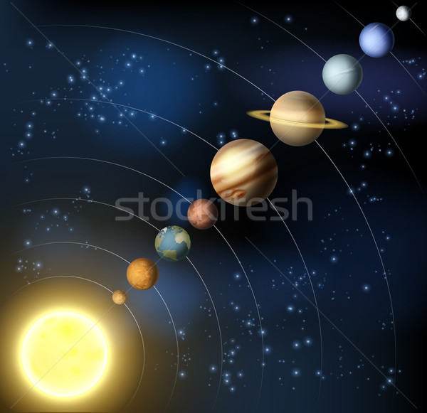 Solar system from space Stock photo © Krisdog
