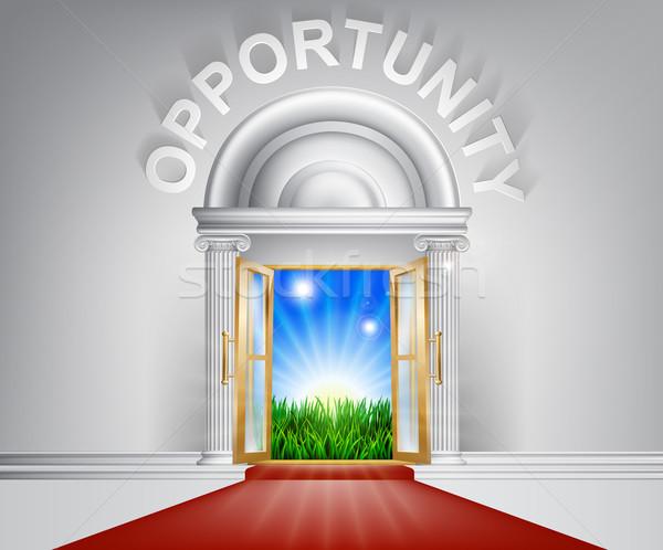 Gelegenheid deur illustratie chique naar rode loper Stockfoto © Krisdog
