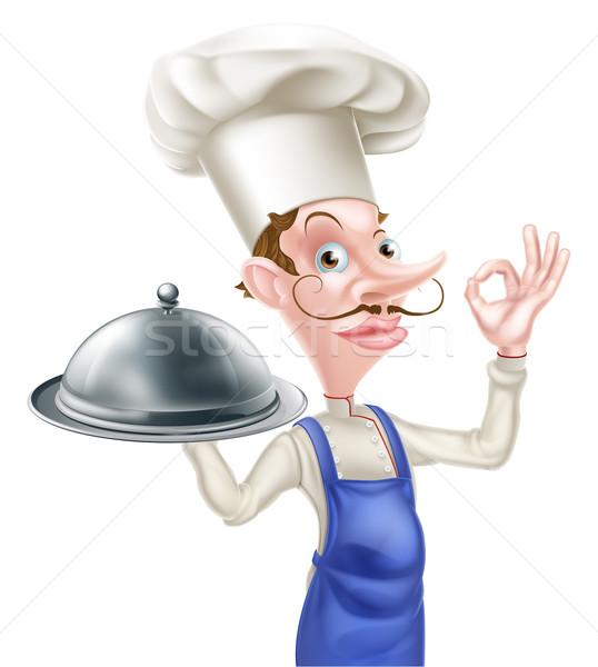 Szakács tökéletes felirat illusztráció rajz oké Stock fotó © Krisdog