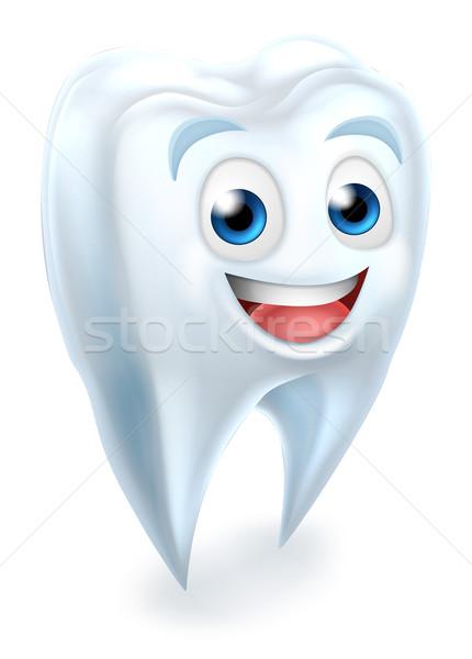 Stock foto: Zahn · zahnärztliche · Maskottchen · Karikatur · cute · Zahnärzte