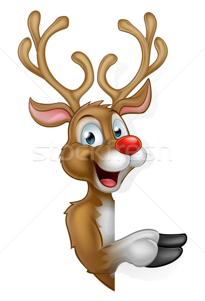 Cartoon Christmas Santas Reindeer Stock photo © Krisdog