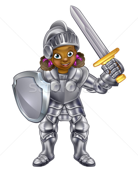 Cartoon Girl Knight  Stock photo © Krisdog