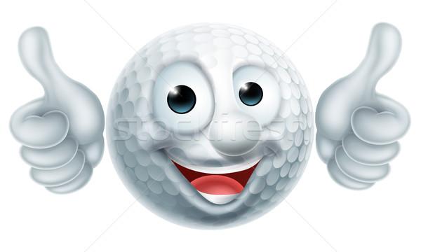 Cartoon pallina da golf carattere uomo mascotte Foto d'archivio © Krisdog