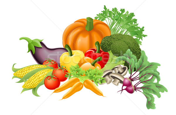 Tasty vegetables illustration Stock photo © Krisdog