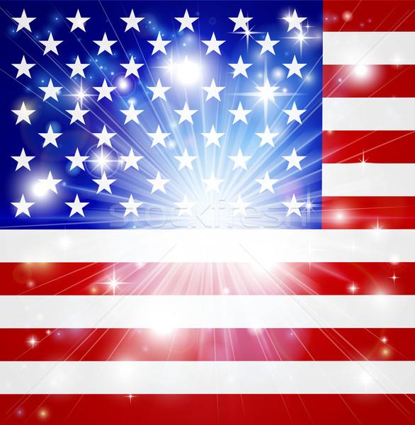 American flag background Stock photo © Krisdog