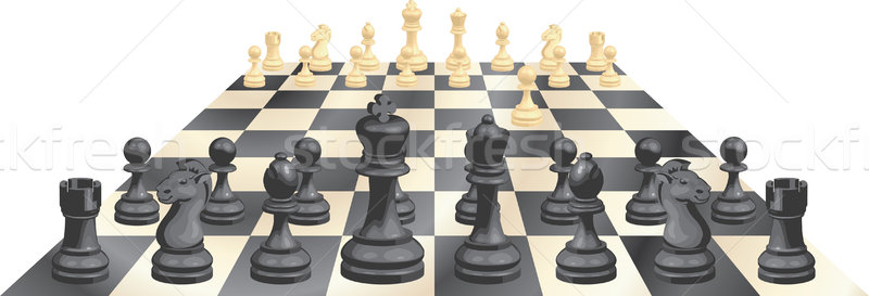 Game of chess vector illustration Stock photo © Krisdog